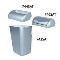 Корзина пластмассовая 23л PRESTIGE 742SAT/744SAT/746SAT (Крышка и корзина продаются отдельно) (Корзина для сміття пластик сатинова 23л настінна