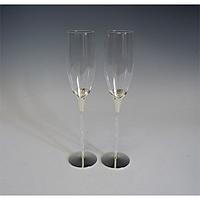 Набор бокалов для шампанского Хрустальная дорожка 2шт 220мл