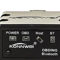 ➘OBD2 адаптер KONNWEI KW902 сканер тестер ошибок Wi Fi Bluetooth 3.0 двигателя для IOS Windows Android, фото 3