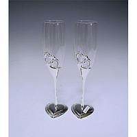 Набор бокалов для шампанского Два сердца 2шт 220мл