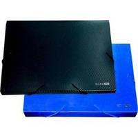 Архивный бокс Папка бокс А4 40мм Economix E31402 (синяя прозрачная x 14162)