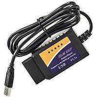 Диагностический сканер OBD2 адаптер ELM327 USB мониторинг блютуз универсальный для автомобиля машины обд2