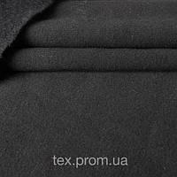 Трикотажное полотно трехнитка с начесом хлопок/полиэстер, однотон черный
