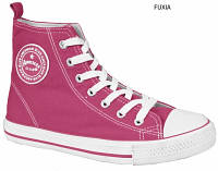 Стильные, яркие высокие кеды American club аля Converse для женщин и подростков р.36,37,38,39,40,41 фуксия