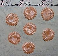 Пресс основа для создания цветов персиковый