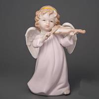"""Фарфоровая статуэтка """"Ангел со скрипкой"""" 20 см купить в Сумах"""
