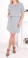 """ПП Украина Женское стильное платье большого размера """"Ната"""" , платье до 68 размера"""