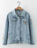 Куртка женская джинсовая Куртки джинсовые Zara AA05