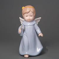 """Красивая фарфоровая статуэтка """"Маленький ангелок"""", 15 см,  2 вида"""