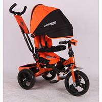 Детский трехколесный велосипед Azimut Crosser T 400 (ПЕНАРЕЗИНА), оранжевый