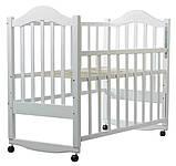 Кровать Babyroom Дина D101  белая, фото 2