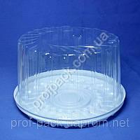 Упаковка ПС-244-дно-крышка для торта из полистирола, d=245 мм, 130 шт/уп