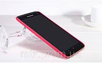 Чехол бампер пленка Nillkin Super Frosted Shield для телефона смартфона Lenovo S930 red красный