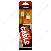 Aspor кабель А108 Lightning, длина 1м, цвет красный