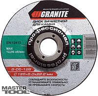 Диск абразивный зачистной для камня 115*6,0*22,2 мм GRANITE Mastertool 8-05-116