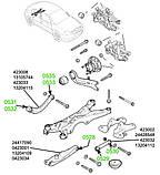 05-32 Сайлентблок поперечного верхнего заднего рычага (бумеранг) наружный Opel Vectra-C; 13105744, фото 3