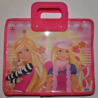 Сумка-портфель детская А4, пластиковая / Девочки (Barbie)
