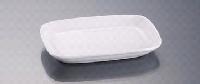 Прямоугольная тарелка фарфор 27см