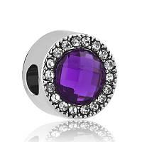 Шарм в стиле pandora Камея violet