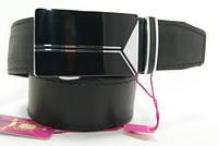 Ремень мужской кожаный. Ремень из цельной кожи с пряжкой автомат