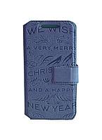 Чехол Florence новогодние рисунки для Samsung I8190 Galaxy S3 Mini книжка вбок, чехол подставка, обложка