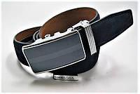 Ремень мужской кожаный. Ремень замшевый с пряжкой автомат ALON