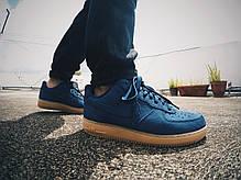 Женские кроссовки Nike Air Force 1 Low Midnight Navy Dark Blue 749263-400, Найк Аир Форс, фото 2
