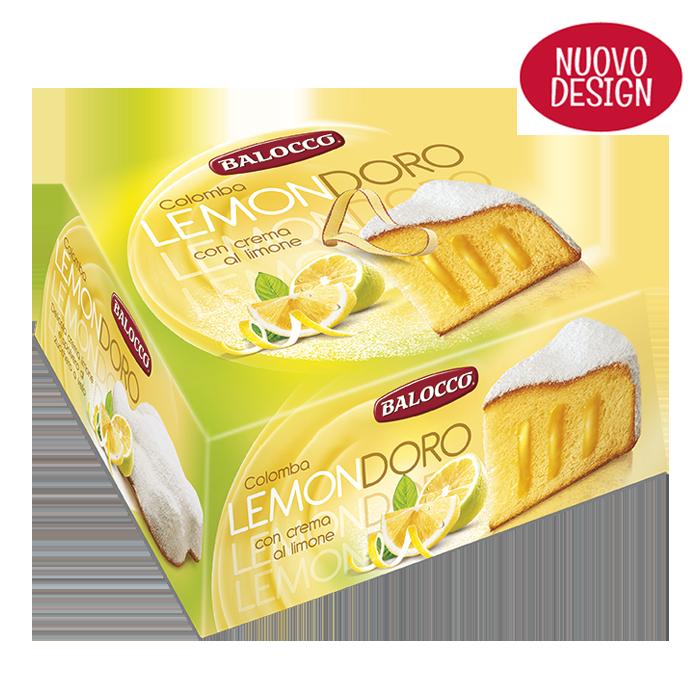 Итальянские куличи (панеттоне) Balocco Colomba Lemondoro с лимонным кремом 750 гр.