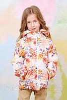 Куртка-жилет для девочки (цветы) оптом