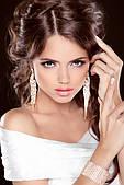 Бижутерия свадебные серьги, сережки