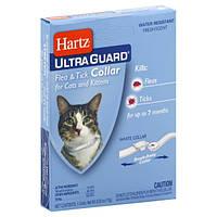 Hartz Ultra Guard белый ошейник от блох и клещей для кошек и котов.