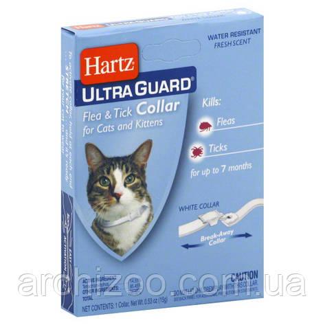 Hartz Ultra Guard белый ошейник от блох и клещей для кошек и котов., фото 2