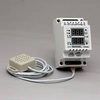 Регулятор влажности — терморегулятор двухканальный в корпусе на DIN-рейку РТРВ-10/D-2