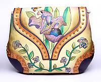 Дизайнерская большая кожаная сумка ручной работы 583