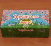"""Масло крестьянское 73% пачка 400г  ТМ """"Украинское"""""""