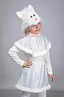 Детский Карнавальный костюм Кошка белая меховая