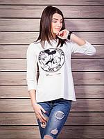 Молодежная стильная женская кофточка с Микки-Маусом