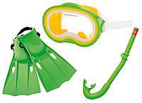 Набор для плавания маска, трубка, ласты Intex 55955: от 8 лет