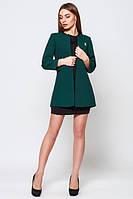 Кардиган женский пиджак удлиненный стильный зеленый