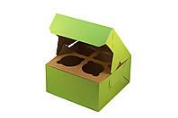 Коробки для кексов, маффинов, капкейков 4 шт 170х170х90 мм