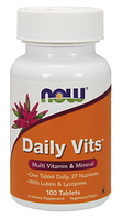 Vitamin,  Now Foods, Daily Vits, 100tabl
