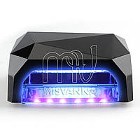 УФ лампа POWERFUL UV+LED DIMOND на 36 Вт (black)