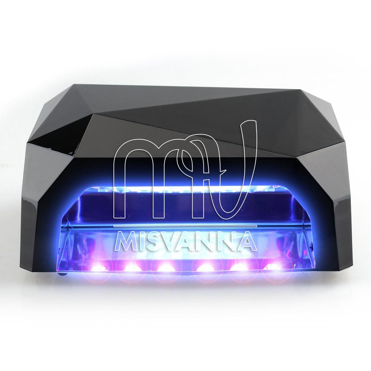 УФ лампа POWERFUL UV+LED DIMOND на 36 Вт с сенсором и таймером 10,30,60 сек. и магнитным дном (black)