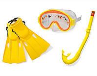 Набор для плавания маска, трубка, ласты Intex 55951: от 3 до 8 лет