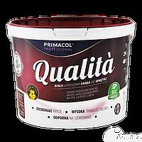 QUALITA Краска акриловая белая, Primacol TM  для стен и потолка  10л