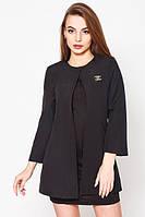Кардиган женский пиджак удлиненный стильный черный