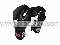 Боксерские перчатки кожа 8 oz Boxer, черные