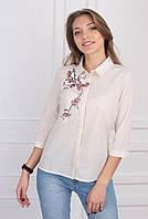 Стильная женская блуза с вышывкой