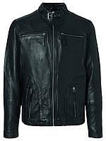 Мужская натуральная кожаная куртка Ernesto Sheep leather Jacket черного цвета от !Solid (Дания) в размере L