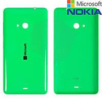 Задняя часть корпуса (крышка аккумулятора) для Microsoft (Nokia) Lumia 535, зеленая, оригинал